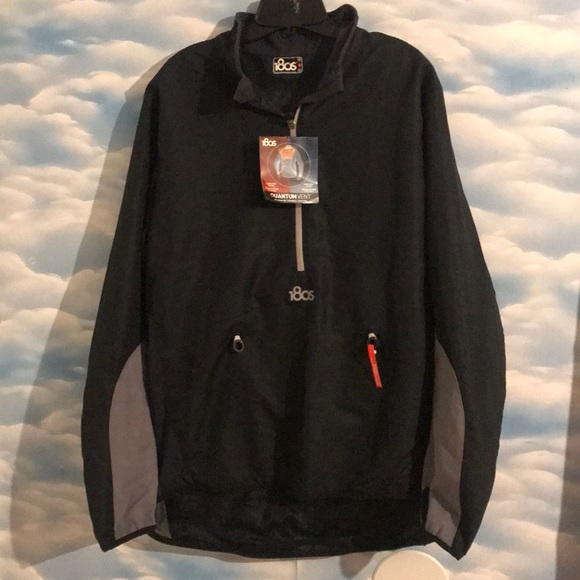 1d6acb82a9501 180s Jackets & Coats | Nwt Mens Large Black Running Windbreaker ...